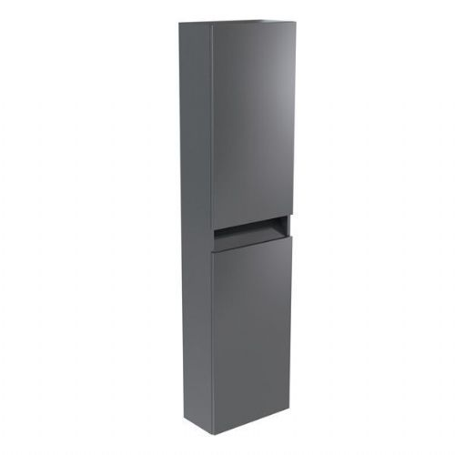 Kartell Ikon Wall Mounted Tall Storage Unit - 1600mm High - Grey - Left Handed